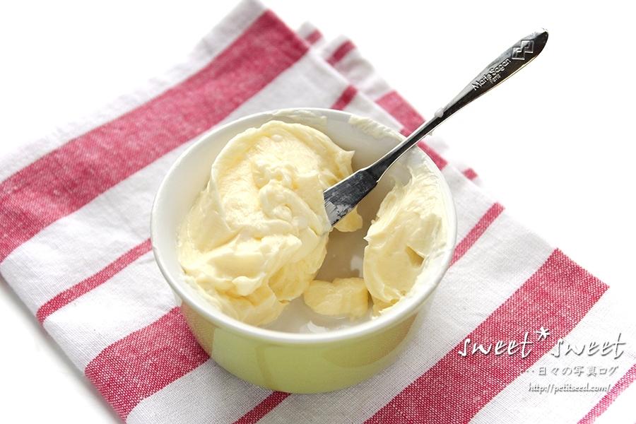 シロカホームベーカリーで作るバター