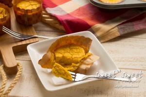 ミキサーで混ぜるだけ・アーモンドミルク入りかぼちゃのチーズケーキ