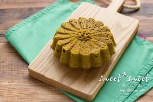 マルグリット型で抹茶のパウンドケーキ