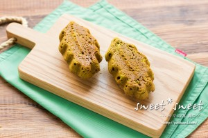 リーフ型で抹茶のパウンドケーキ