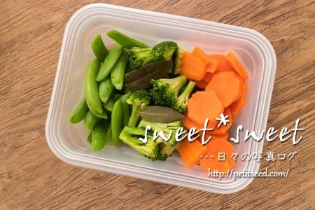 コンソメ味の温野菜
