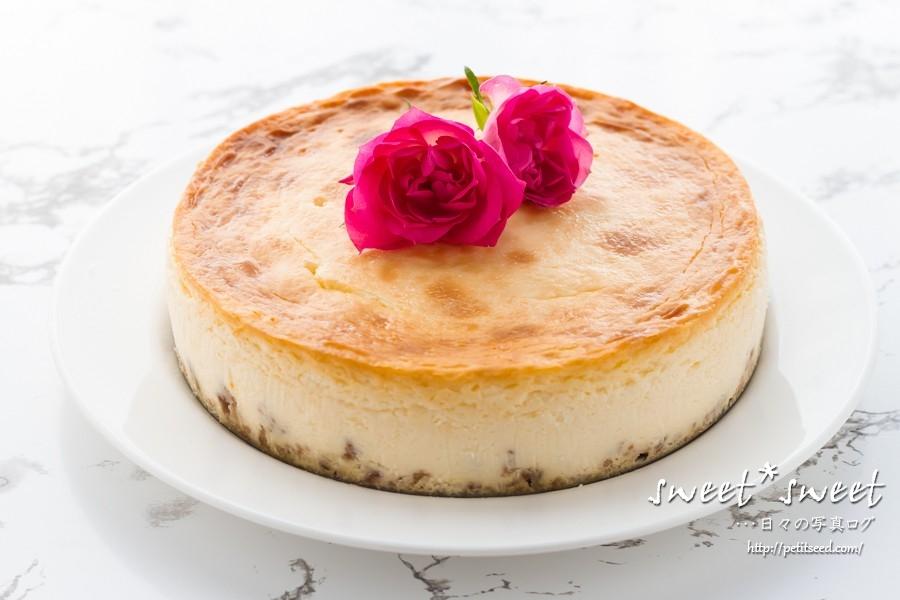 ホワイトチョコのベイクドチーズケーキ