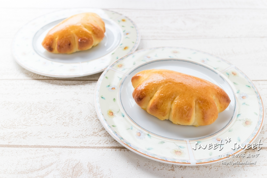グローブ型のクリームパン