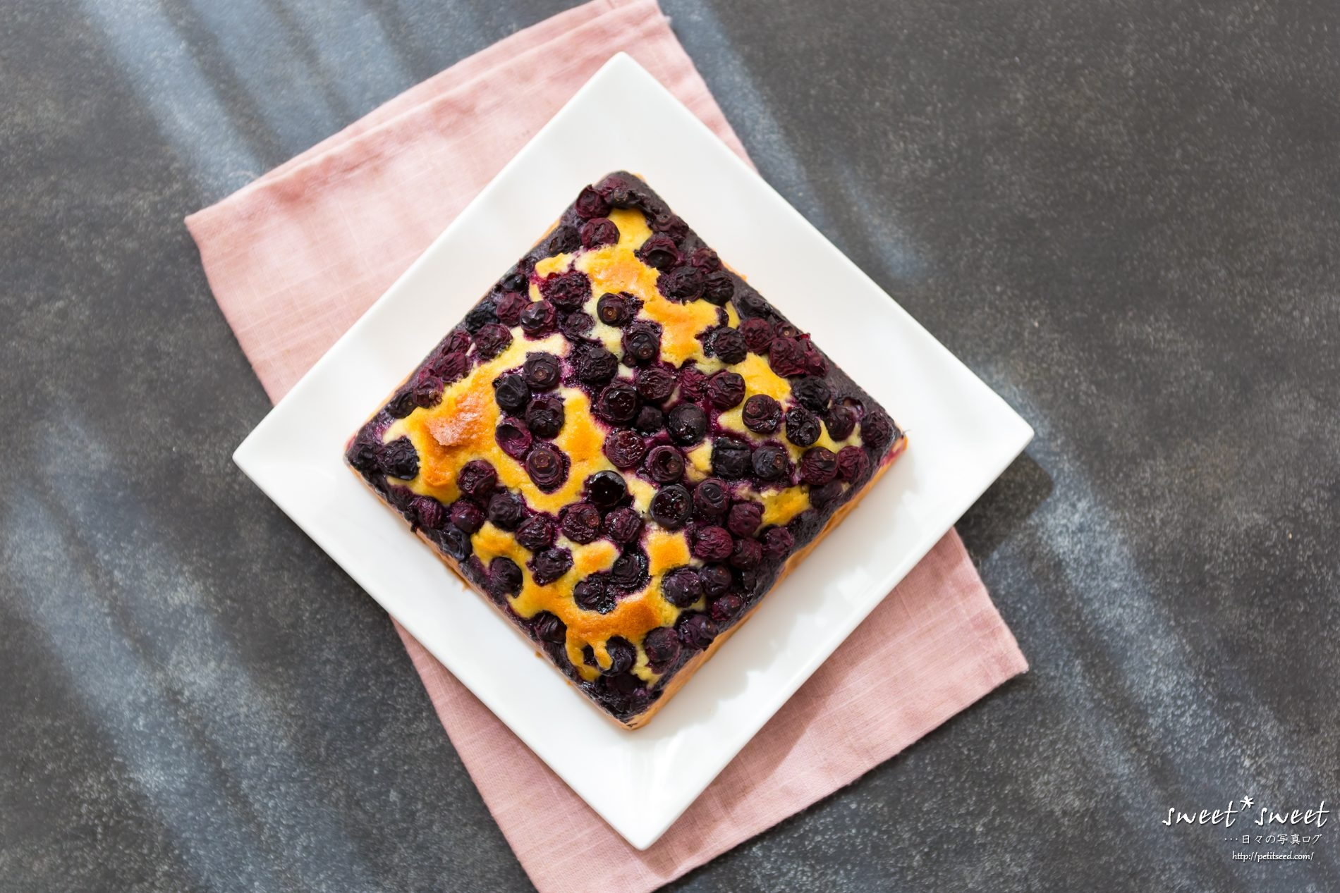 ブルーベリーのケーキ - レシピは若山曜子さん
