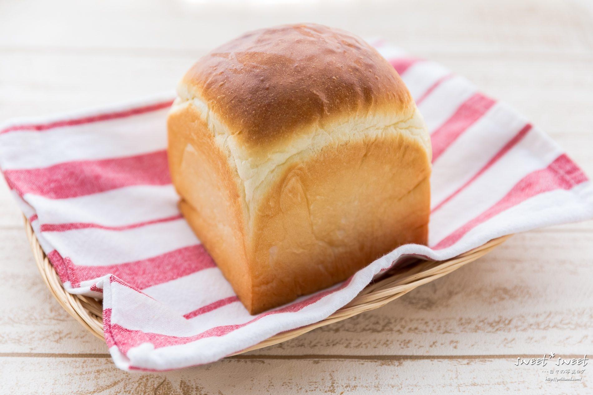 正方形の食パン型で作る山食
